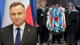 Udržíme vaši památku, slíbil prezident. Hrůzy Osvětimi si připomíná i 200 přeživších