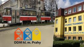Ojetá tramvaj poslouží dětem: Před Stanicí techniků v Dejvicích v ní vznikne klubovna