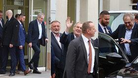 """Zeman byl opět ve špitále, lékaři mají jasno. S holí a úsměvem """"odtančil"""" ven"""