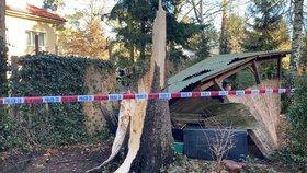 Orkán řádí v Praze: Na dvě děti (15, 14) spadl v parku strom! Z Klánovic je záchranáři vezli do nemocnice