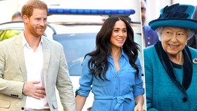 Problémoví Harry a Meghan musí zpátky! Povolala je sama královna