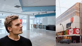 Na rok si pronajal 4. patro obchodního domu Máj: Pavel tu plánuje silent kino, grilování a další kulturní akce