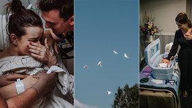 Fotografka zachytila příběh, který trhá srdce: Sbohem, Graysone! Chlapeček se narodil mrtvý, rodiče se sním loučili