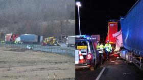 Smrtelná nehoda na D8: Při srážce dvou kamionů zemřel jeden z šoférů