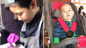Chlapec (13) vydělává na léčbu nemocného bratra v nehtovém studiu. Zákaznice se jen hrnou!