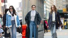 Nejžhavější džíny tohoto roku: Vyzkoušíte zkrácenou délku nebo mrkváče?
