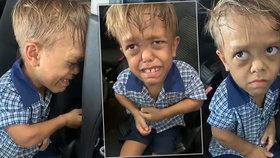 Mami, chci se oběsit, plakal šikanovaný chlapec: Hvězdy Hollywoodu s ním chtějí kamarádit a vybraly miliony