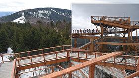 Adrenalin na Stezce Valaška: 150 metru na laně vzduchem, obří trampolína i líbačka v oblacích