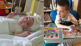 """Bourala těhotná a předčasně porodila: Syn Daník (9) měl být kvůli nehodě """"ležák"""", má postižení, ale chodí do školy, řekla Petra"""