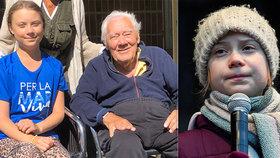 Gretě (17) zemřel slavný děda (†94). Aktivistka není doma s rodinou, navštívila svůj idol