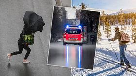 Sníh vystřídá mrznoucí déšť. Ze silnic budou zrcadla, sledujte radar Blesku