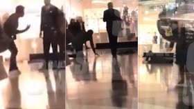 Zhroutil se v záchvatu kašle uprostřed nákupního centra! Děsivé video je prý jen pokus o vtip