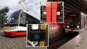 """""""Nedotýkejte se tlačítek, dveře se otevírají!"""" Kvůli koronaviru budou řidiči metra a tramvají otevírat všechny dveře ve všech zastávkách"""