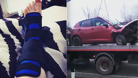 Daniela se zranila při ošklivé nehodě: Nikdo jí nepomohl! Záchranku si volala sama