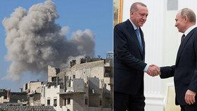 Při náletech zemřelo dítě a dalších 14 lidí. Rusko bombardovalo povstalce v Sýrii