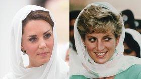 Okamžiky, kdy vévodkyně Kate připomněla princeznu Dianu: Podívejte se na jejich podobné outfity!