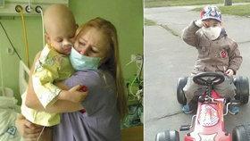 Toník (7) s rakovinou: Ještě nám pár roušek zbývá, ale ne moc. Maminka dostala infarkt
