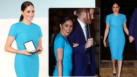 Drahý návrat Meghan do Británie: Luxusní hotel a šaty od kámošky Beckhamové s kabelkou za 50 tisíc