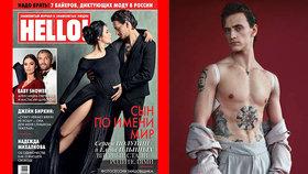 Potetovaný baleťák Sergej Polunin bude tátou! Jeho ruská krasobruslařka je v tom