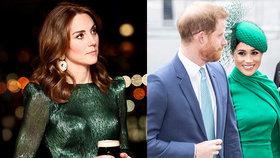Smutná vévodkyně Kate: Harry mi bude chybět! Meghan jí nestála za jediné slovo