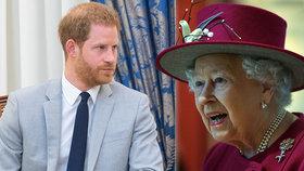 Zoufalá Alžběta žádá Harryho: Opusť Meghan, nebo rozvrátíš rodinu!