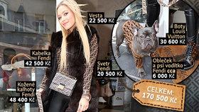 Sexbomba Dominika Myslivcová: Štěně nosí stejné značky jako ona!