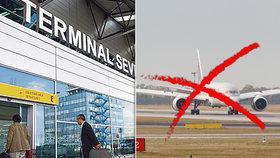 Odříznuté Česko: Na pražském letišti se ruší lety, od pondělí čeká cizince jen »luxusní« terminál