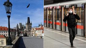 """""""Nikde ani duše."""" Nařízení vlády vylidnilo historické centrum Prahy i nádraží"""