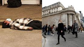 Šokující výjev ze země paralyzované pandemií: Muž nakažený koronavirem bezvládně ležel na ulici!