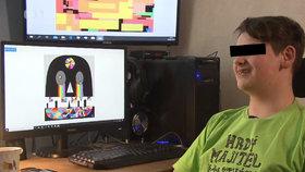Vašek (17) svými grafikami ohromil profesionály: Tvoří jako absolvent UMPRUM!