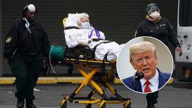 """Až 200 tisíc obětí koronaviru v USA? Byla by to """"dobrá práce"""", překvapil Trump"""