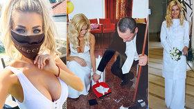 Sexbomba Silvia Kucherenko ukázala fotky ze své svatby! Bez kačera jí to seklo