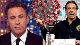 """Známý moderátor má koronavirus. """"Je mladý, zvládne to,"""" fandí mu bratr, guvernér New Yorku"""