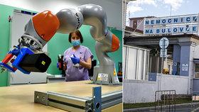 Koronavirus: Unavení laboranti z Bulovky mají netradiční výpomoc. Od vědců dostali Pipeťáka