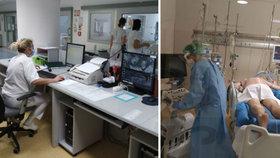 Na přístrojích a na břiše, tak vypadá nejtěžší průběh nemoci: Těchto pacientů je v Česku 77!