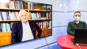 Vysílali jsme: Klaus pro Blesk o koronaviru a vládních opatřeních. Sám měl test negativní