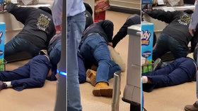Muž kašlal a plival na jídlo v supermarketu: Zákazníci se s ním drsně vypořádali!