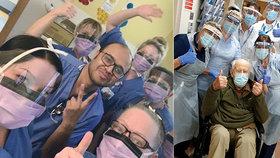 Stařeček (101) se vylízal z nákazy koronavirem: Rekordman lékaře velmi povzbudil