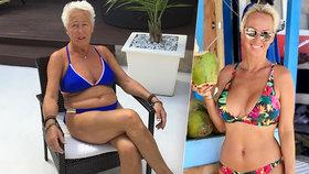 Jablko nepadá daleko od stromu! Máma sexbomby Belohorcové Vierka (68) v plavkách