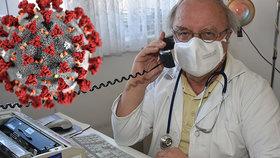 Lékař Kulda léčí po telefonu: Když k němu jdou nemocní, má na ně půlhodinu, nesmějí se potkat