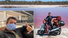 Dobrodruh Marek hasil v Austrálii požáry, pak ho tam uvěznil koronavirus: Domů se dostal až teď