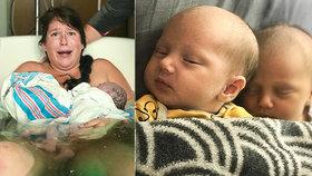 Máma nevěděla, že čeká dvojčata: Oněměla, když porodila druhé dítě