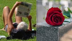 Nudistka (78) se opalovala na prostějovském hřbitově: Pohoršovala u rozptylové loučky!