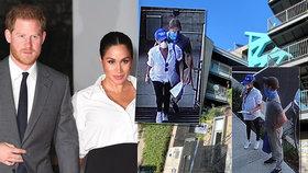 První fotografie Meghan a Harryho v USA: Neuvěříte, co v roušce a s kšiltovkou dělali!