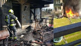 Požár bytu rodinu připravil o všechno: Dětem (6 a 7) nezůstaly ani boty