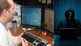 """Hackerské útoky jsou časté, přiznal """"ajťák"""" z nemocnice: Nezkušený personál naletí"""