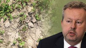 Vyprahlé Česko: Brabec mluví o katastrofě a chystá krizové scénáře na pitnou vodu