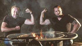 Žák zdatnější než učitel? Marian Vojtko a Noid Bárta porovnali své svaly!
