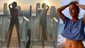 To je, panečku, výhled! Sexbomba Belohorcová se vystavila na balkóně nahá