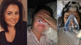 Nenechte mě zemřít, žadonila o život sestřička bojující s koronavirem své kolegy. Má dvě děti